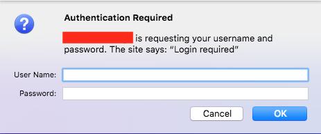 Firefox prompt
