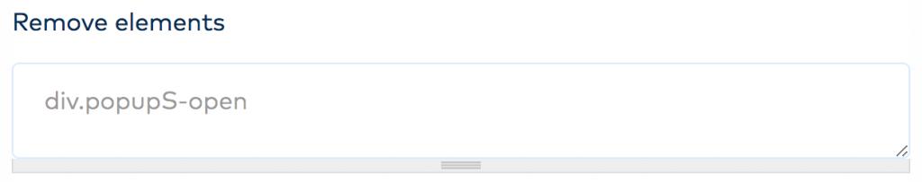 Remove elements option
