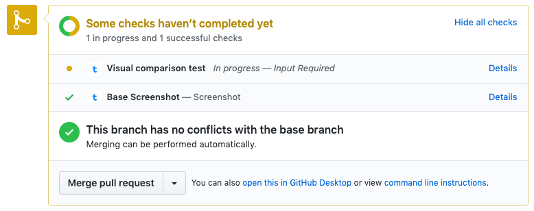 Pull request flow