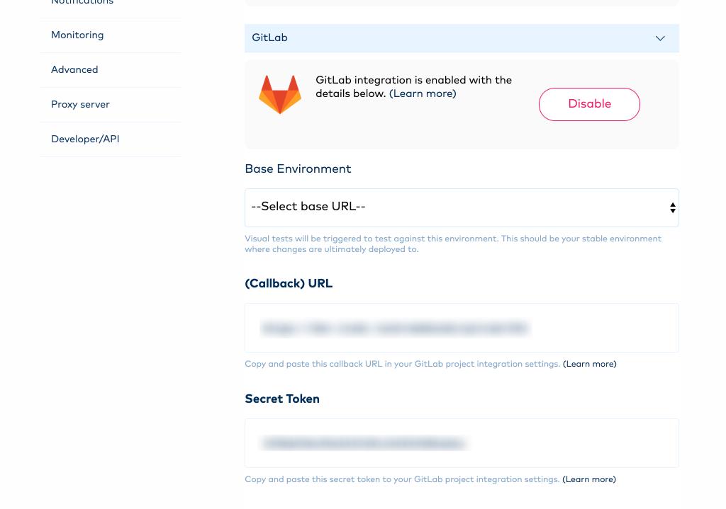 Gitlab enabled