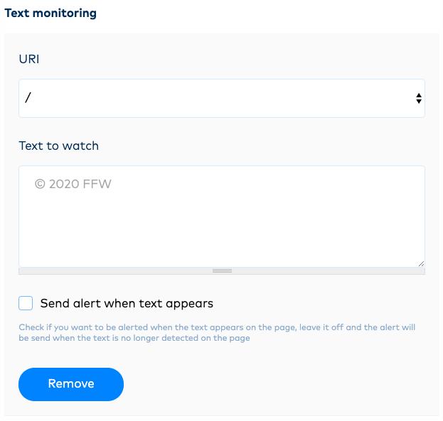 Text monitoring